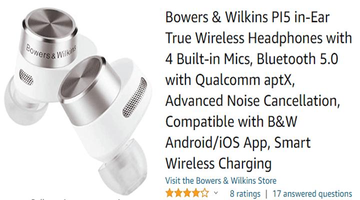 Bowers & Wilkins PI5 in-Ear True Wireless Headphones
